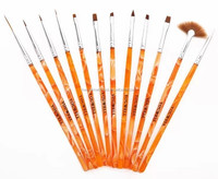Acrylic handle nail art brush set