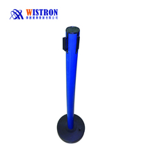Rubber retractable pole stand one meter line
