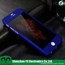 360 degree protective mobile phone cover for iphone 6 full body case with tempered glass