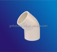 PVC water pipe fitting 45 degree pvc elbow
