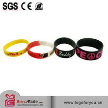 debossed swirl color silicone wristbands for wedding gift