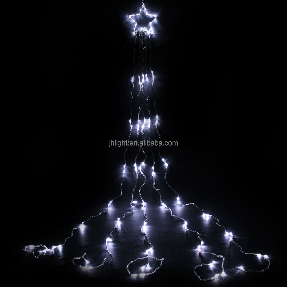 White LED House Christmas Tree Top Star Light with Waterfall Effect/star light waterfall curtain light CHRISTMAS WEDDING