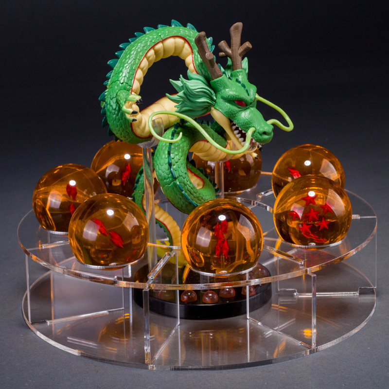 Dragon Ball Z + 7pcs 4.2cm acrylic Balls + ShelfAction Figures Dragonball Z Figures Set