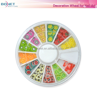 BDW0001 Beauty Professional High Quality Manicure 3D Nail Art Decorations Wheel With Gold And Silver Metal Studs