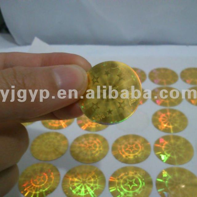 New Arrival! Promotional cheap adhesive laser stickers