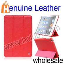 HOCO Litchi Pattern Smart Wake Sleep Tri-Fold Stand Genuine Leather Case For iPad Mini Retina iPad Mini