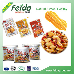 Wholesale fried spicy salty peanuts with bulk, bag, tin pack