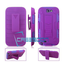 RUGGED HYBRID CASE COVER WITH BELT-CLIP Hoster shockproof Case For SAMSUNG GALAXY Note 2 N7100 note 6 note 7