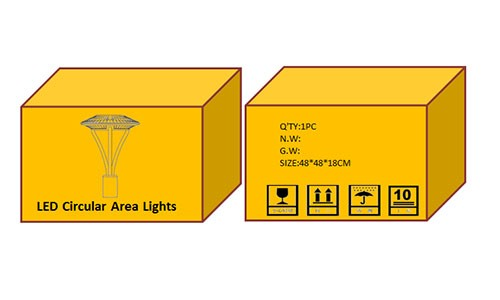 DLC ETL Approval 50w-170w ip65 LED post top light yard lamp