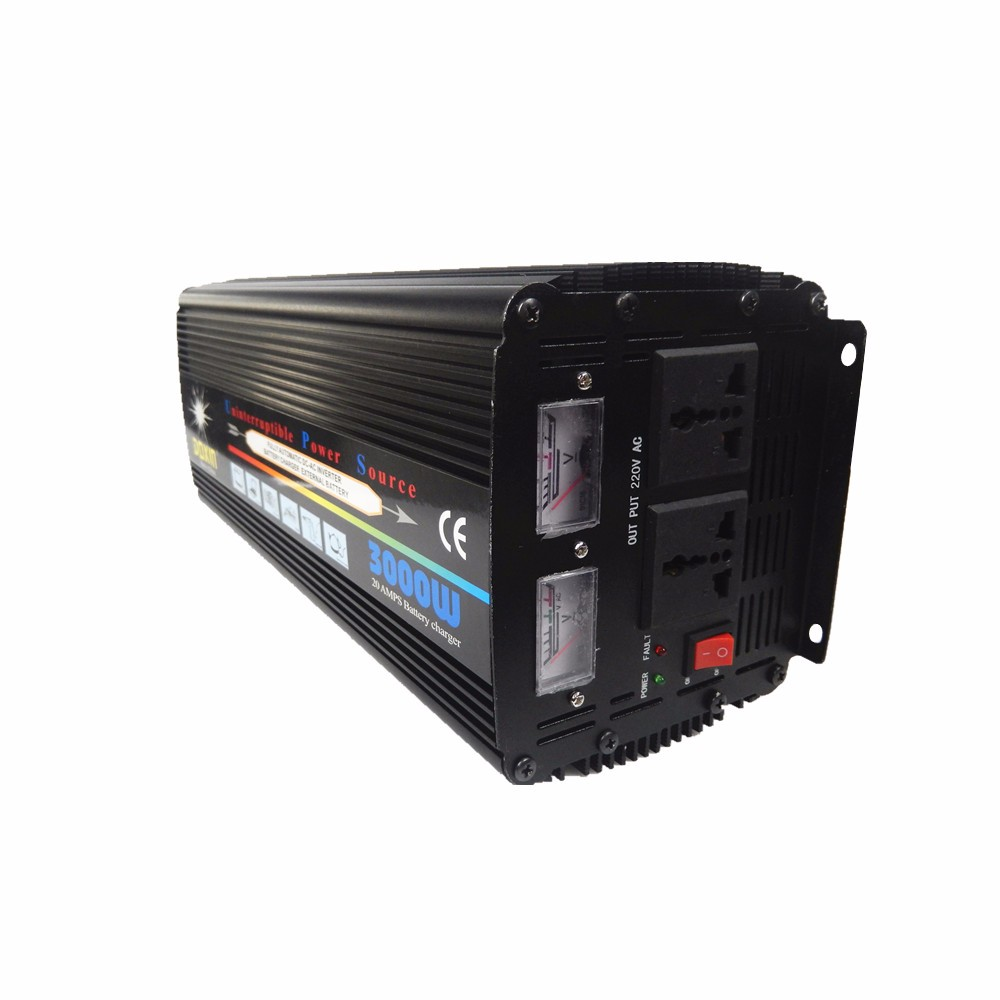 Factory direct selling home ups inverter 3000w inverter 12v 220v with built in battery charger