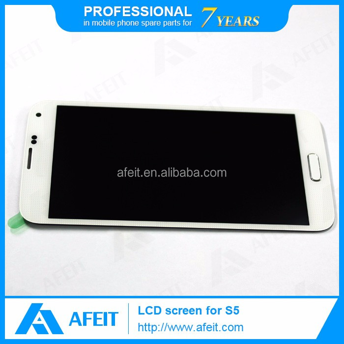 complete original lcd with digitizer touch screen assembly for samsung galaxy s5 I9600 G900