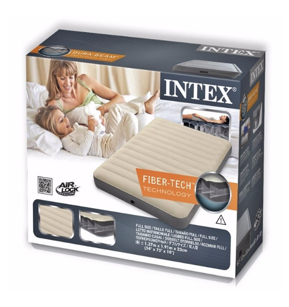 Intex Inflatable Deluxe Single High Airbed Camping Air Mat