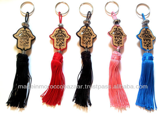 Beautiful Moroccan Handmade Hamsa Hand Tasseled Key Chains