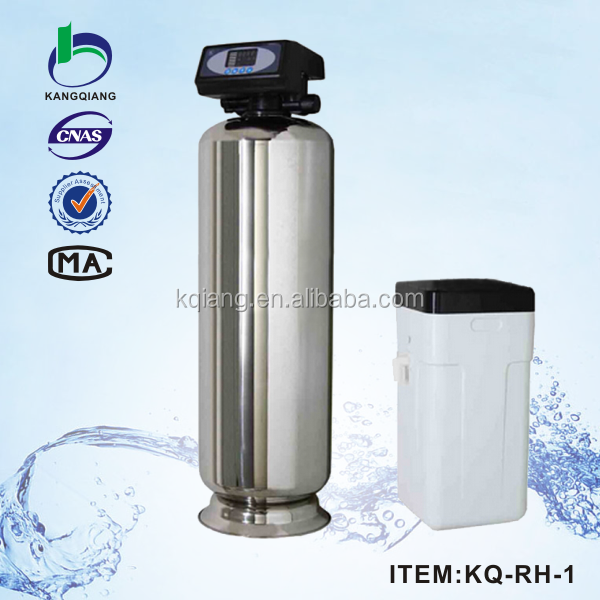 Electronic water softener with the white brine tank