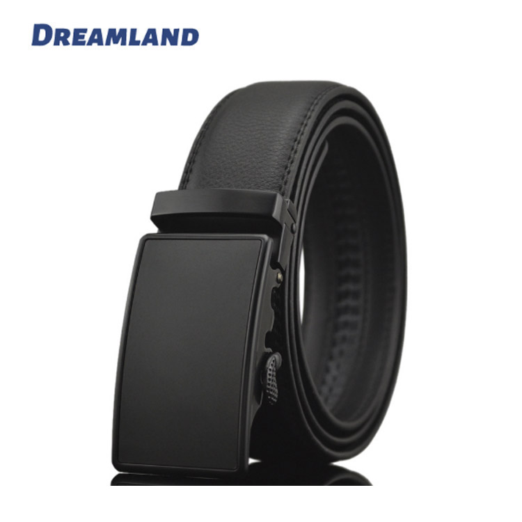 Automatic Buckle Croc looking Leather Belt