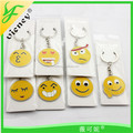 Customized print National Flag Metal Promotion Tourist Souvenir emoji keychain with high quality