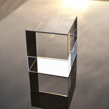 regular blank solid crystal glass cube wholesale Alibaba