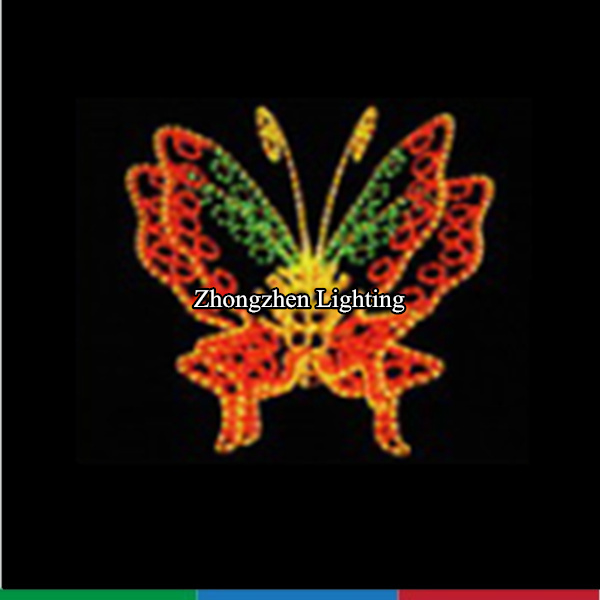 twinkling outdoor commercial good quality led lighted butterfly motif light