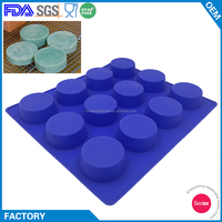 Best Seller 12 Cup Round Silicone Rubber Candle Soap Molds