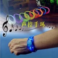 2016 HOT Event Party Sound Control Led Flashing Bracelet Bangle Wristband For Night Club Activity Party Bar Music Concert