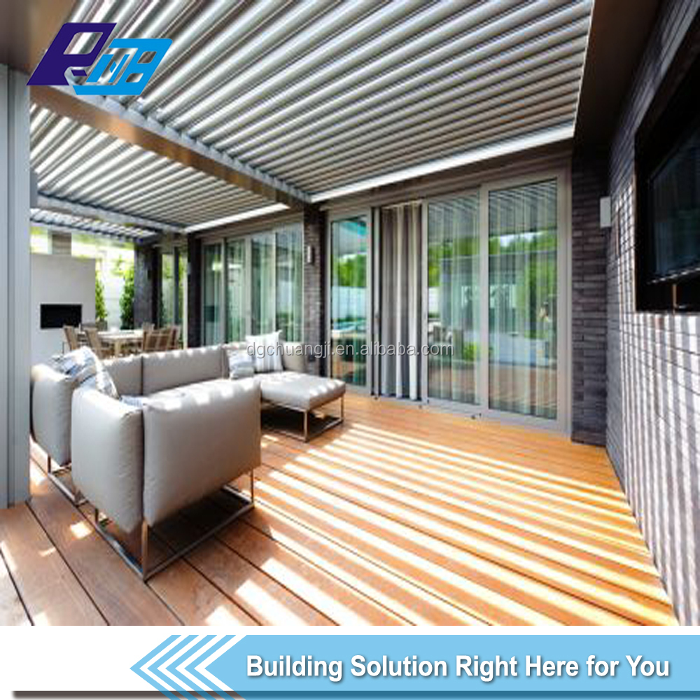 opening louvre roof system/waterproof louver roof