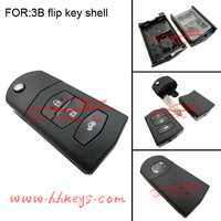 Normal Mazda car key blanks shell for 3 button remote flip key shell