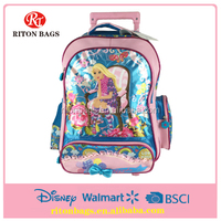 New Design Pretty Girl Kids Trolley Bags with shinning lights