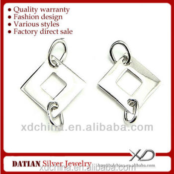 XD P334 925 sterling silver square earring connector earrings and rings