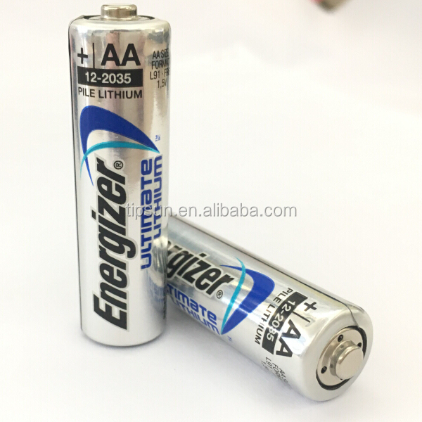 1.5V L91 Energizer Ultimate Lithium AA battery Made in Singapore