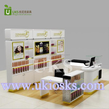 White color design furniture cosmetics shop and cosmetics shop decoration for sale