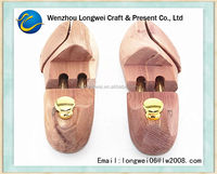 laser logo metal tube wooden shoetree/metal shoe stretcher