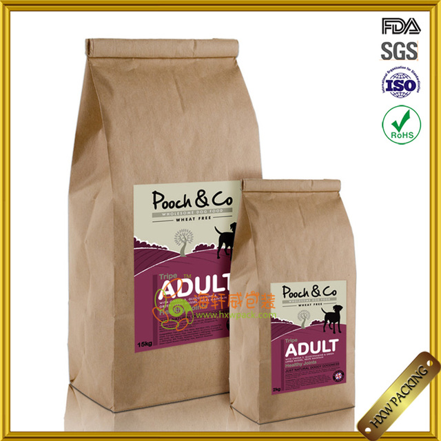 Reusable keep food fragrance coffee kraft papar bag with zipper