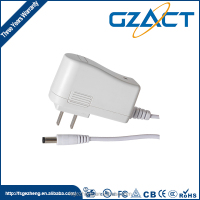 Mobile phone accessories white shell ac/dc adapter 12v 300ma