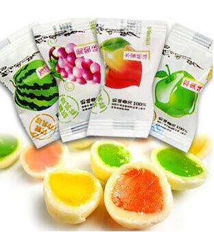 Chinese top seller fruit center filled soft candy