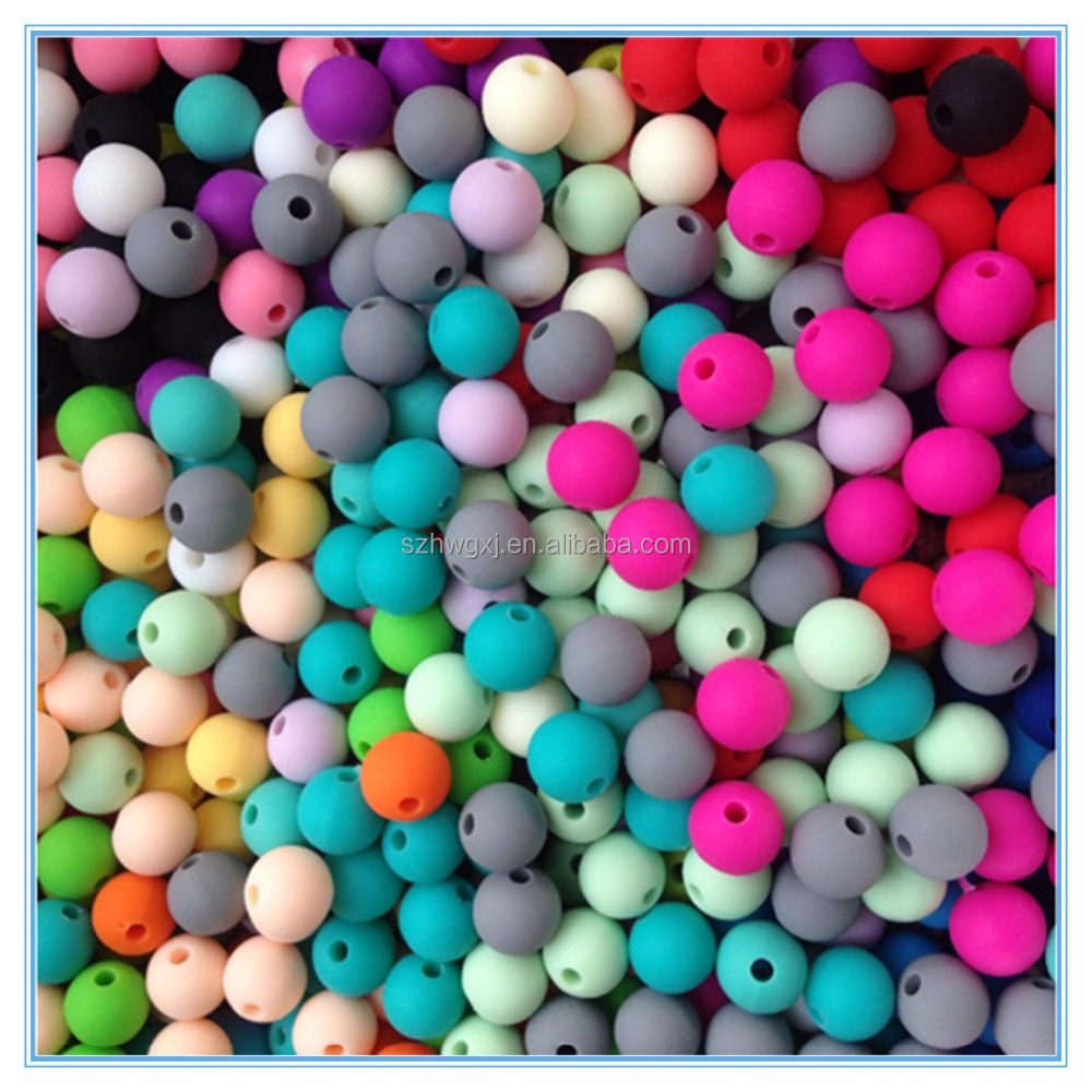 Wholesale food grade baby teething silicone rubber beads