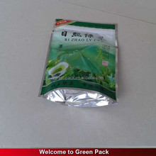 Customized Color Printed Stand Up Plastic Zipper Top Design Tea Bag Pack With Aluminum Foil