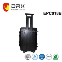 IP67 plastic watertight safety equipment case with wheels
