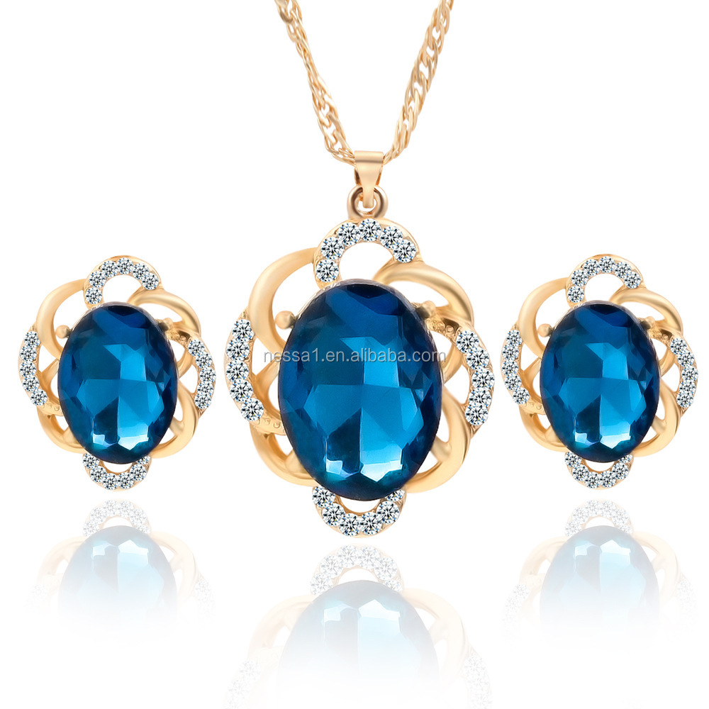 Fashion crystal necklace <strong>set</strong> Wholesale HZ-0013