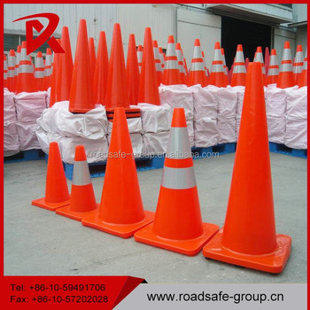 Flexible safety road cones soft PVC COLORED traffic cone