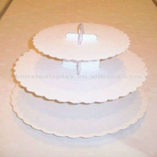 Acrylic Cupcake Box/ Cake Stand/ Cakes Showcase Display/3-tiers Delicate Pink Acrylic Cake Stand