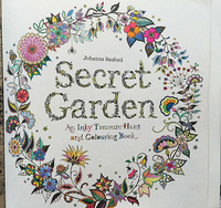 2015 Hot sale Hand-paint secret garden adult coloring book for wholesale