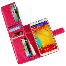 custom design pu leather flip cover fancy phone case for samsung galaxy note 3