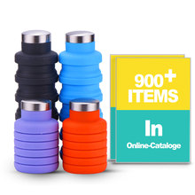 Wholesale Private Label BPA Free Expandable Collapsible Folding Water Bottle Travel <strong>Sports</strong> Drink Silicone Foldable Water Bottle