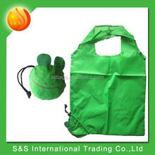 Eco-friendly Polyester Green Frog Shopping Bag Foldable with Handled