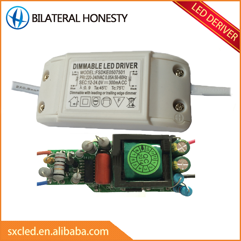 5-7W 12-24V 0-300mA led dimmer IC led dimmer switch driver circuit board for led cob light and <strong>bulb</strong>