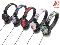 High fashion stereo various patterns custom design wired headphone with micphone