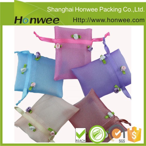 promotional china online shopping drawstring mesh bag