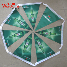 Custom Branded Outdoor Promotional Polyester Triangle String Bunting Flags