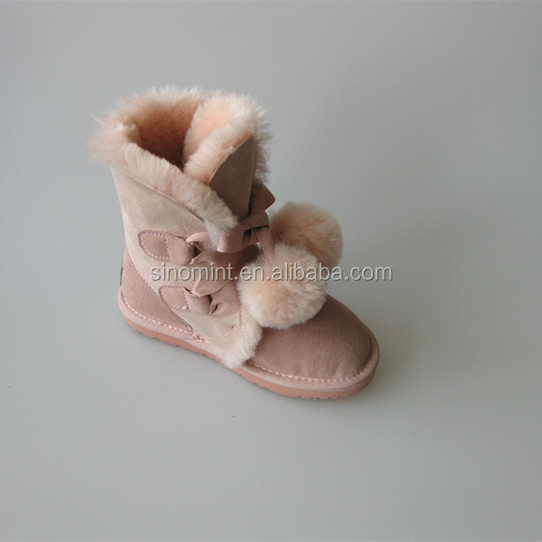 100% Australia sheepskin luxury mukluk pink winter boots for women