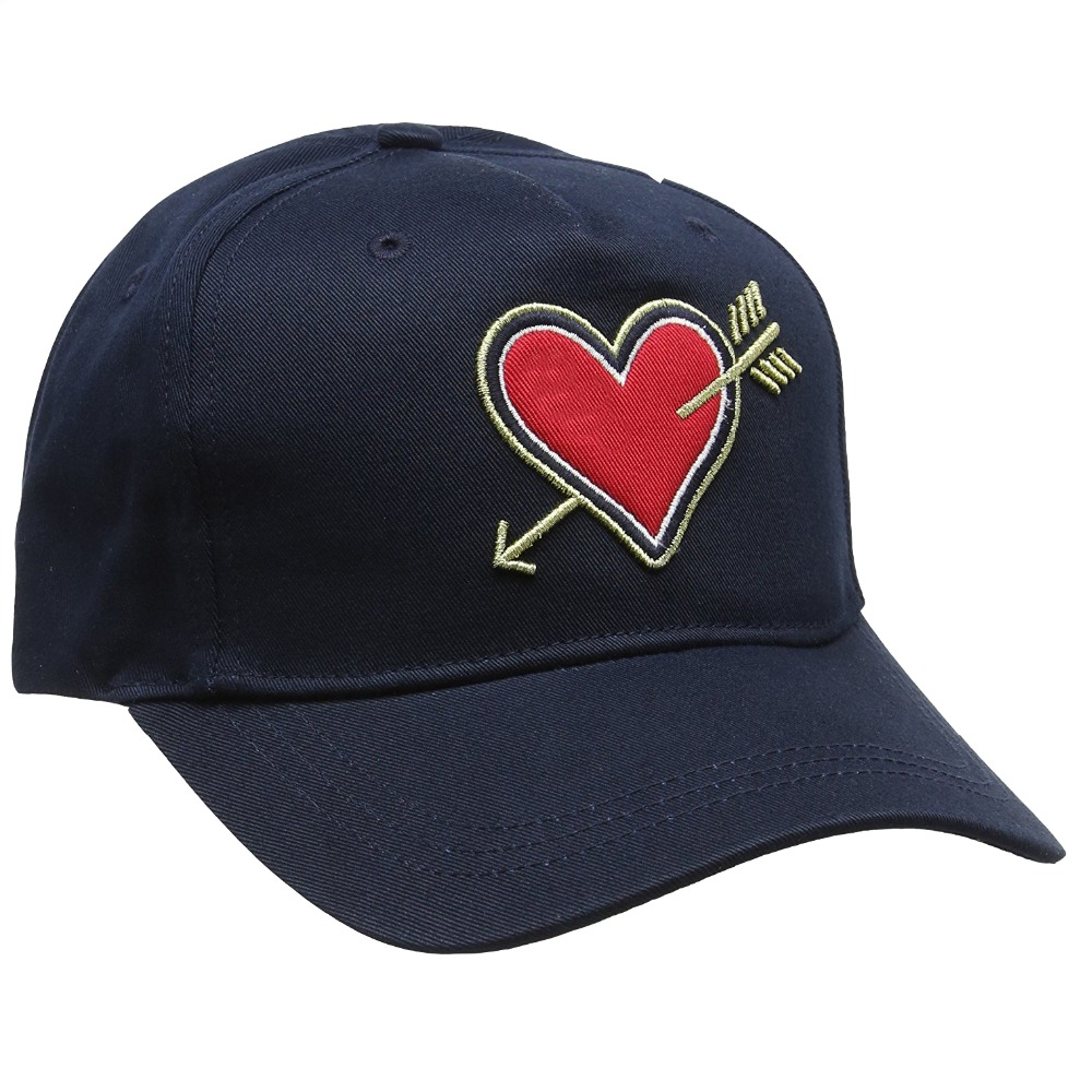 Lovely Gold thread Angel heart 3D embroidery 5 panel baseball cap dad hats
